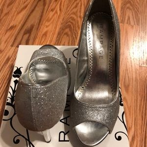 Rampage size 71/2 silver heel
